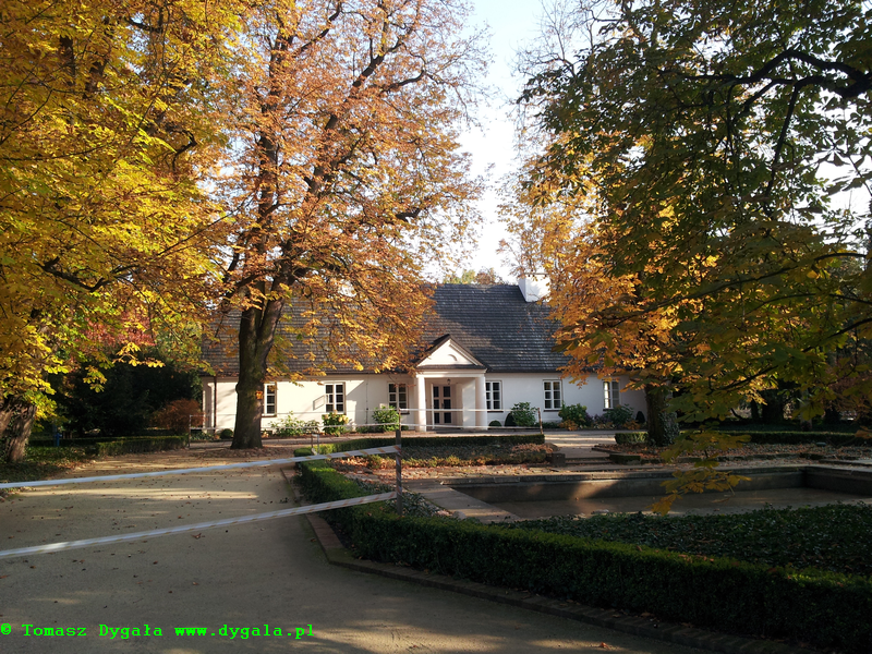 Dawna oficyna dworu Skarbków, miejsce urodzenia Fryderyka Chopina